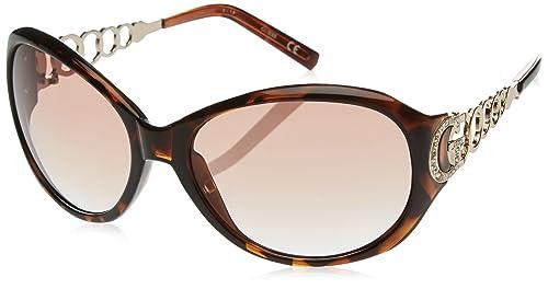 Guess GU6510_S57, Gafas de Sol para Mujer, Marrón (Havana/Oro), 62