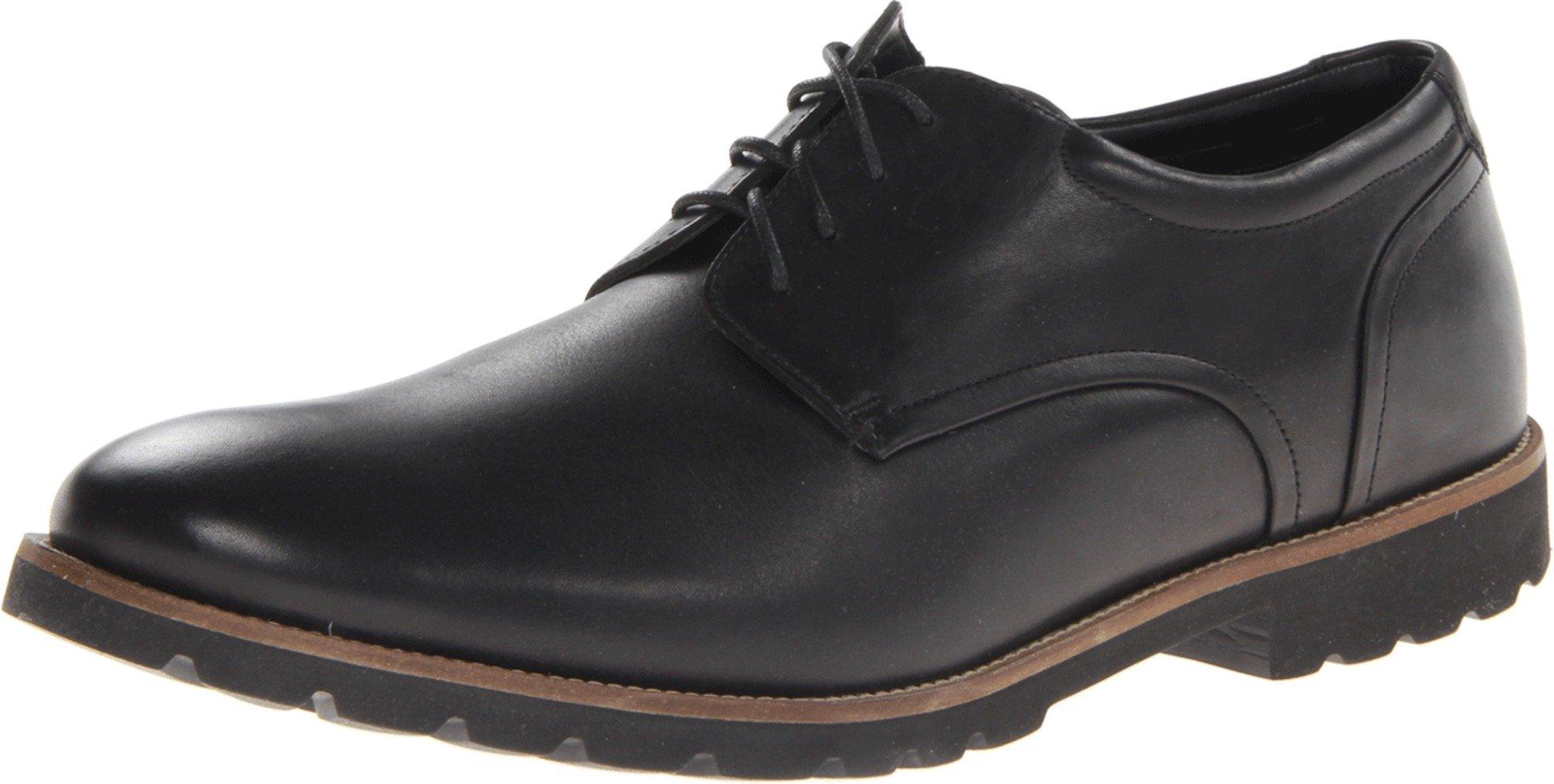Rockport Men's Colben Plain Toe Oxford- Black-7.5 W