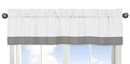 Grey and White Window Treatment Valance for Woodsy Collection by Sweet Jojo Designs