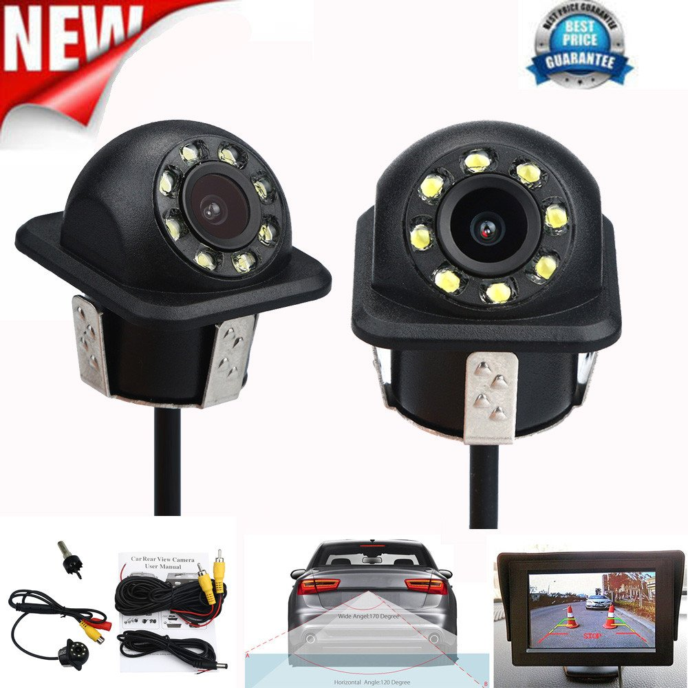 Dacawin 170º CMOS Car Rear View Reverse Backup Parking Camera With Night Vision (Black)