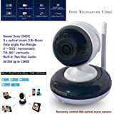 "Microseven 2.8~8mm HD 1080P Pan/Tilt 3x Optical Zoom Indoor SONY 1/2.9"" CMOS Built-in 2-Way Audio PTZ WiFi IP Camera Day & Night 128GB +iOS / Android App Free M7 Cloud+Live Streaming on microseven.tv"