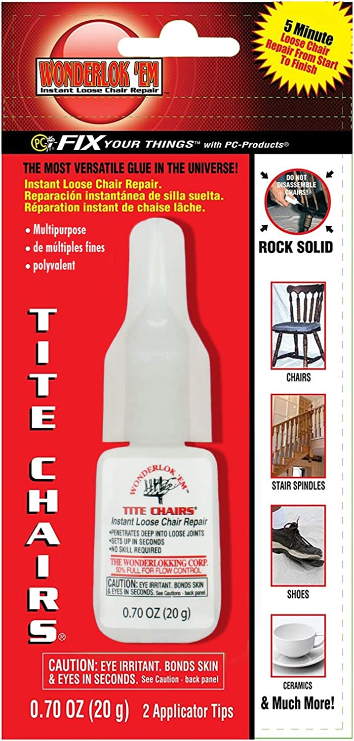Wonderlokking Tite Chairs, Adhesive for Chair Joint and Furniture Repair by PC-Products, 20 gram 208113