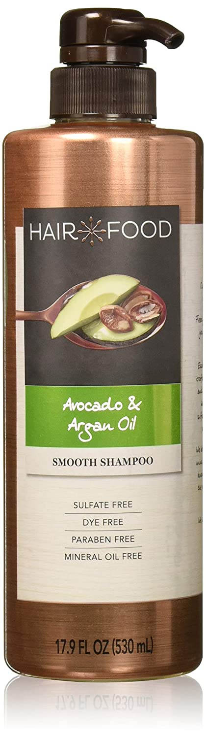 Sulfate Free Shampoo, Dye Free Smoothing Treatment, Argan Oil and Avocado, Hair Food, 17.9 FL OZ