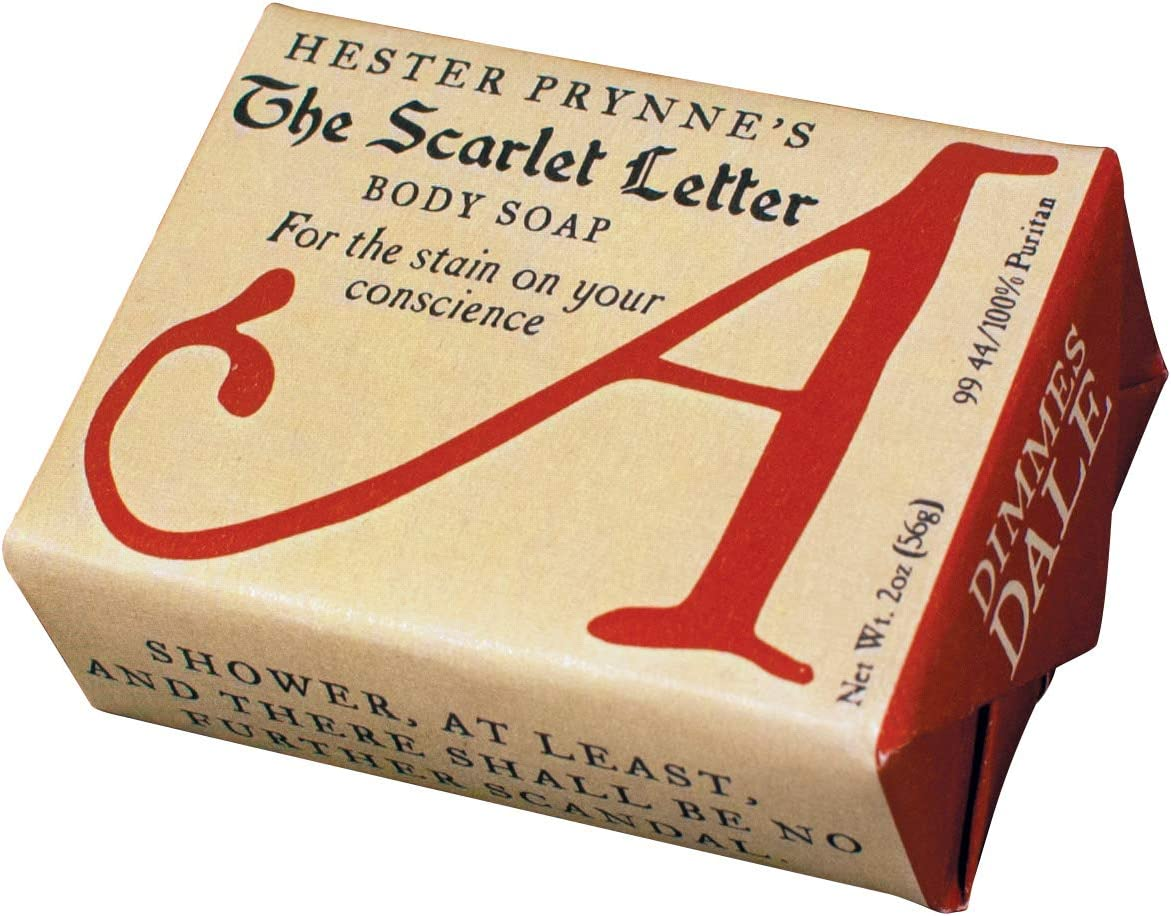 Hester Prynne's The Scarlet Letter Body Soap - 1 Mini Bar of Soap - Made in The USA