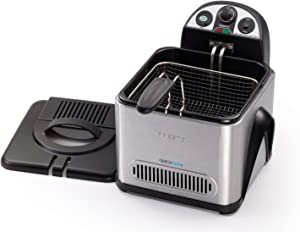 Presto 05463 QuickCool Stainless-Steel ProFry Electric Deep Fryer