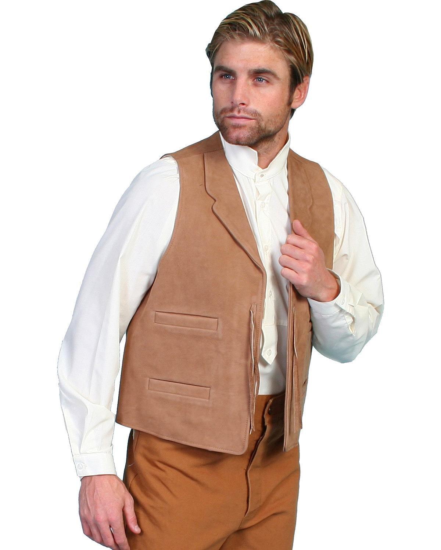 WahMaker by Scully Men's Wahmaker Leather Range Vest Brown XX-Large