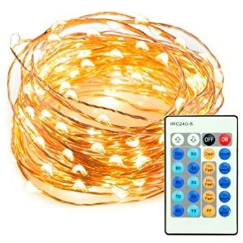 Amazon.com: TaoTronics TT-SL036 33ft 100 LED String Lights Dimmable ...