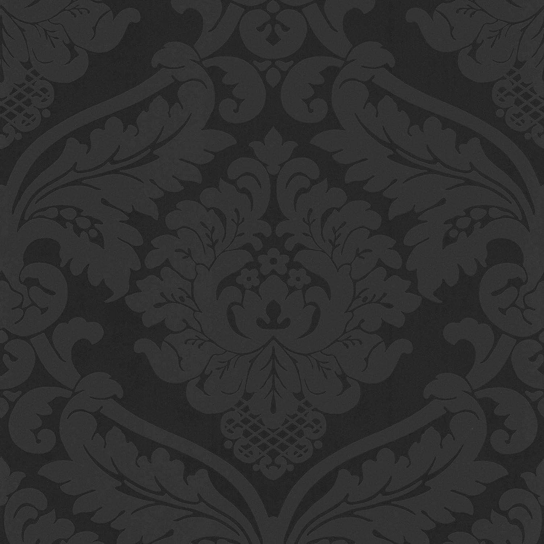 Rouleau Papier peint baroque Tapisserie couloir 552631 55263-1 A.S Noir//Anthracite = 5,33 m/² Cr/éation Black /& White 4 10,05 x 0,53 m