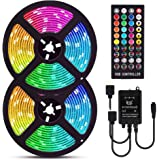 ELlight LED Strip Lights, 32.8ft RGB LED Light Strip Music Sync, Color Changing LED Strip Lights with Remote for Home Kitchen Bedroom 5050 Waterproof Strip Lights for Bar Home Decor