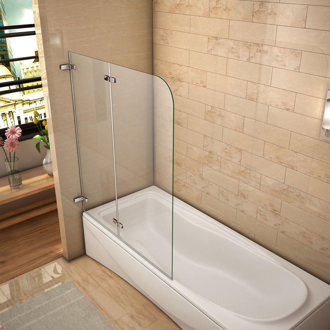 120x140cm Mamparas/pantalla para bañera biombo baño plegable de ...