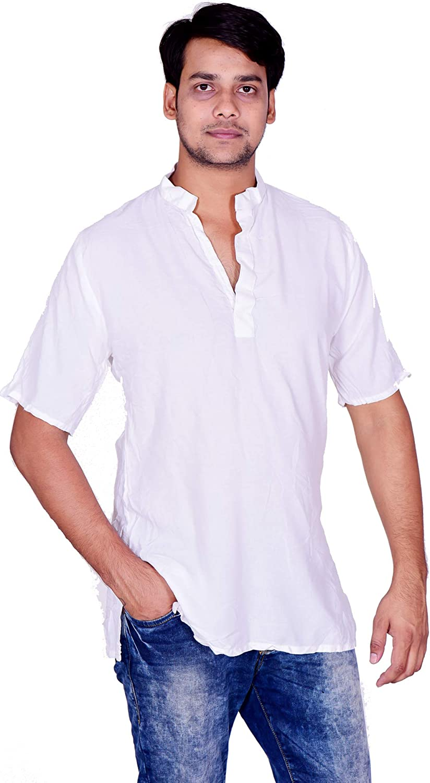 Men/'s Short Shirt Plus Size Long Sleeves Top Tunic Solid Green Casual Shirt