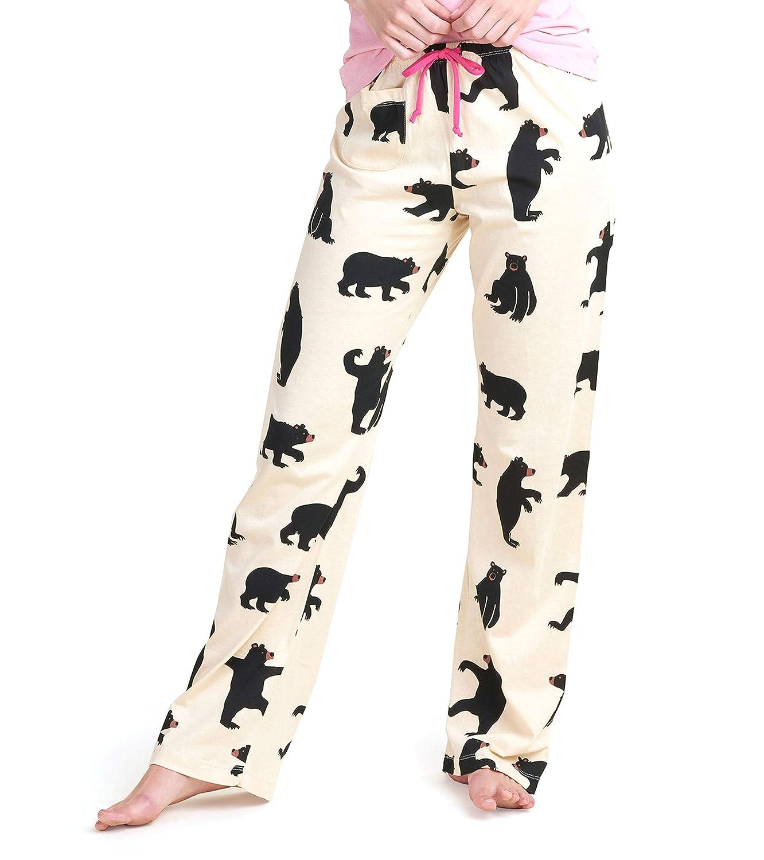 Hatley Black Bears On Natural Pantalones de Pijama para Mujer