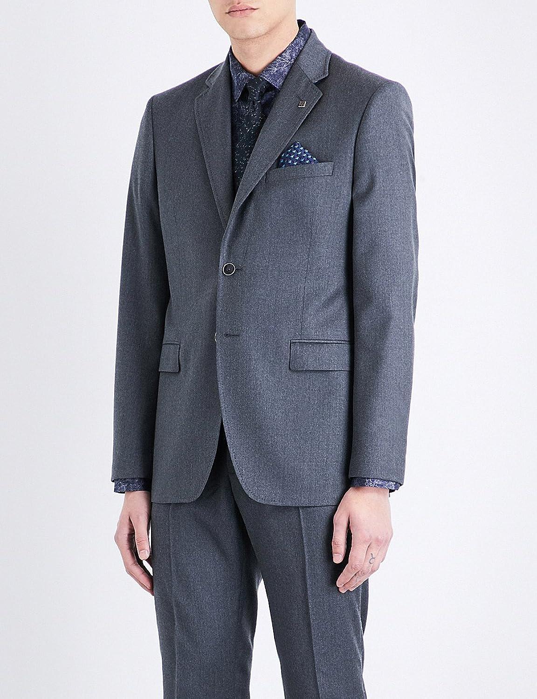 テッドベーカー アウター ジャケットブルゾン debonair modern-fit wool jacket GREY 105 [並行輸入品] B076X75XDD