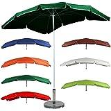 Miadomodo Garden Parasol 155x238 cm Beach Balcony Terrace Sun Shade UV Protection 15+ (Green)