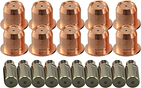 40 //50 Amp Tips Nozzle 20PK for longevity Plasma Cutter 30