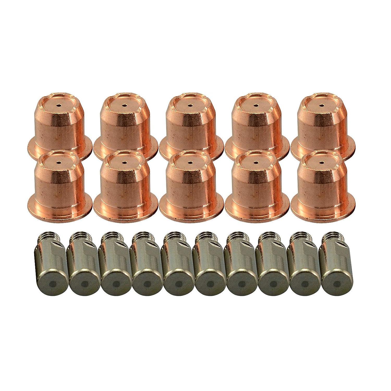 20pcs PR0105 Electrodo de Plasma y PD0102-10 40A Plasma Tip Fit Trafimet ERGOCUT S45 RIVERWELDstore