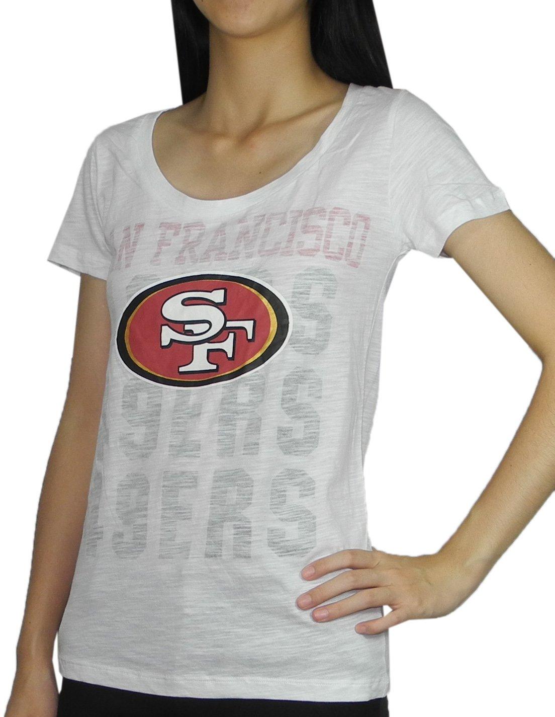 3131d5c3c Amazon.com  Pink Victoria s Secret Womens SAN FRANCISCO 49ERS Crew-Neck T  Shirt L White  Sports   Outdoors
