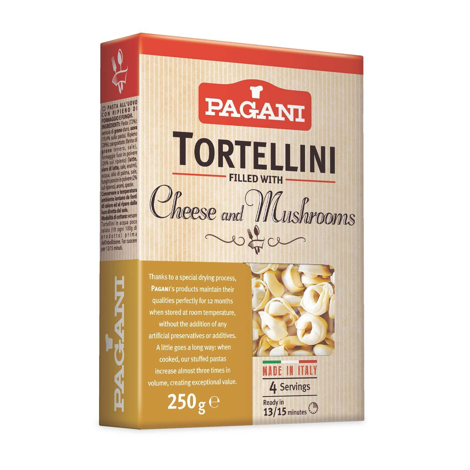 Pagani Tortellini fileld with Cheese & Mushrooms, 8.5 oz (Pack of 8) by Pagani Tortellini