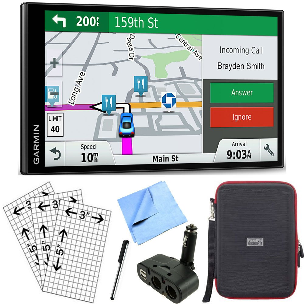 Garmin DriveSmart 61 NA LMT-S Advanced Navigation GPS with Smart Features Deluxe Bundle by Garmin