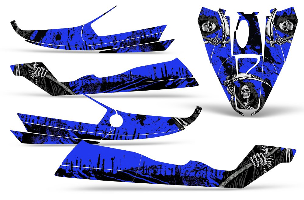 Bombardier SeaDoo GTS 92-97 Decal Graphic Kit Jet Ski Wrap Jetski Sea Doo REAPER BLUE by Wholesale Decals (Image #2)