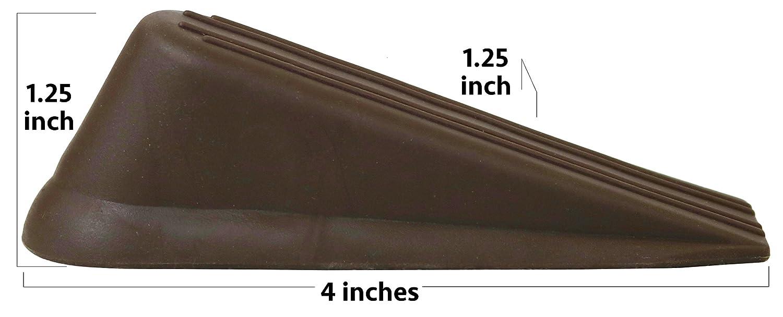 4 Pack Doorstop Rubber Wedge Door Stops Brown