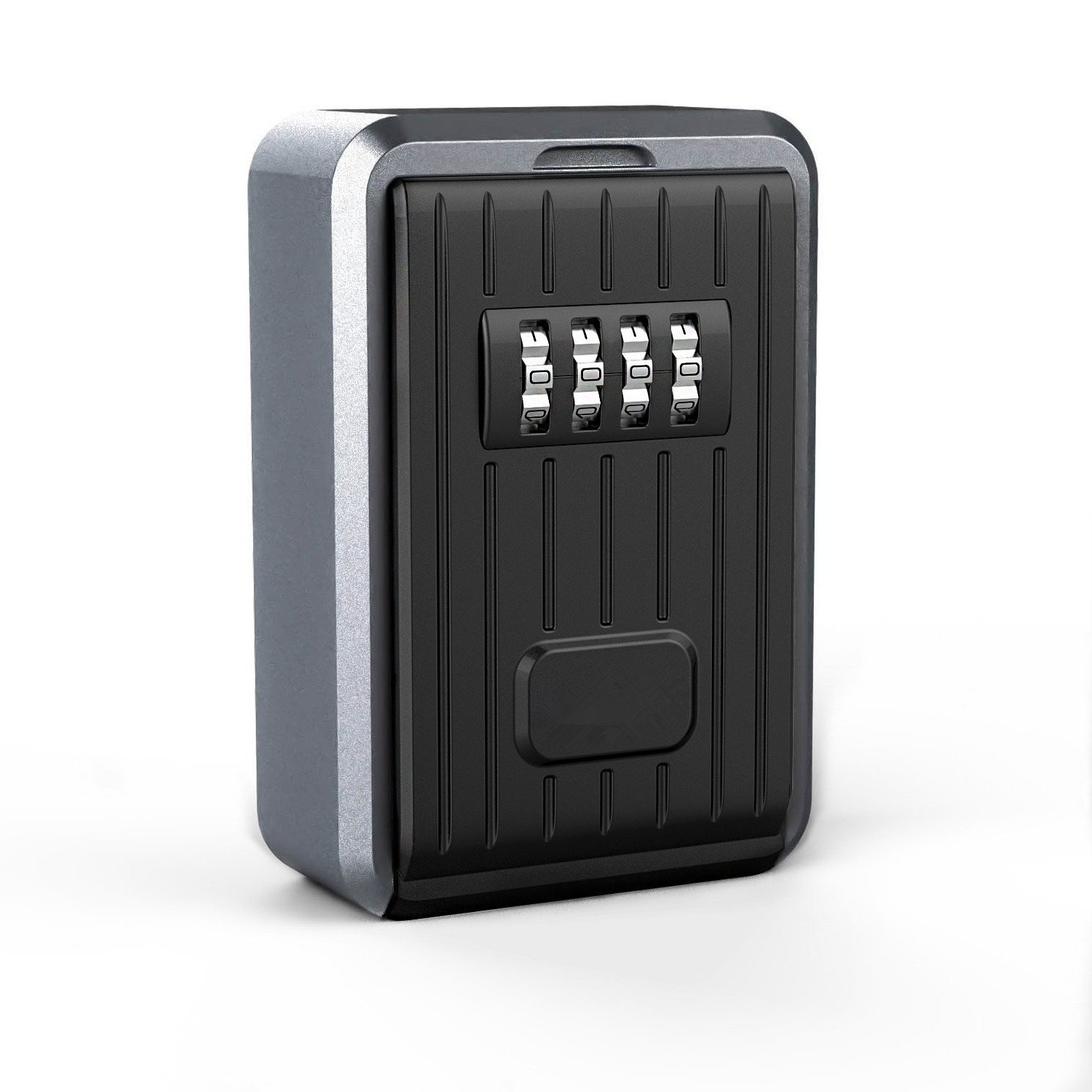 Key Lock Box , Wall Mounted Large Capacity Key Safe 4 Digit Combination Key Storage Lock Box
