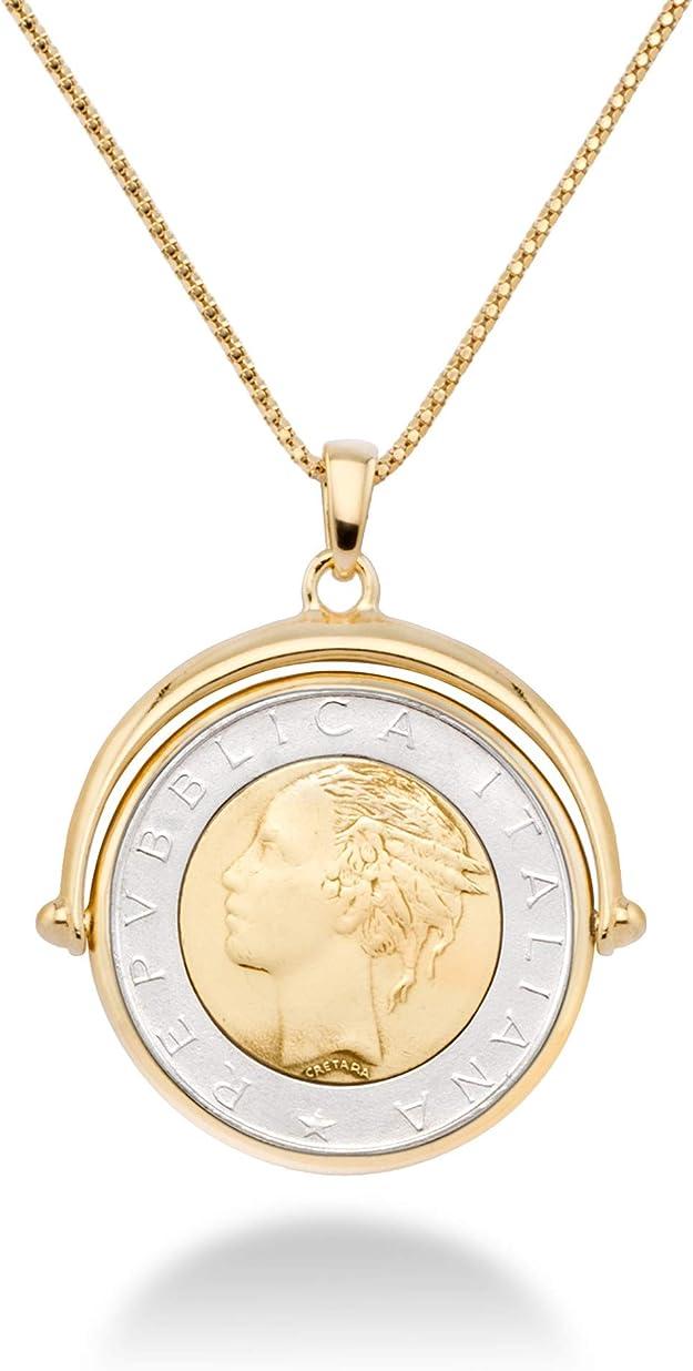 1961 Italy 500 Lira Necklace Pendant