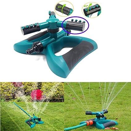 Amazon.com: xedu césped aspersor de agua de jardín, rotación ...