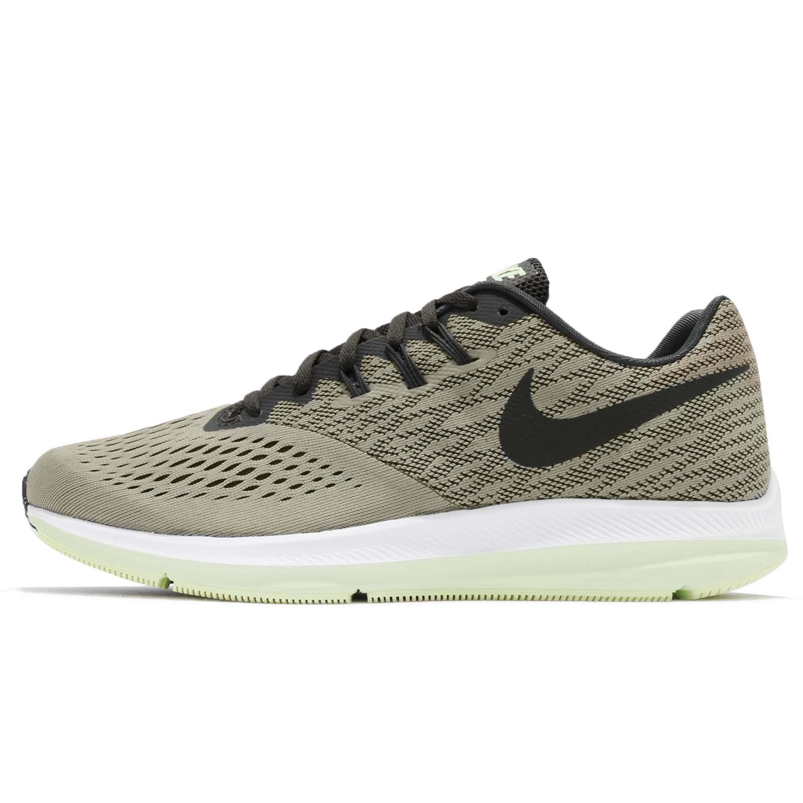 00fa256b63b18 Nike Men's Air Zoom Winflo 4 Running Shoe (13, Dark Stucco/Sequoia-Barely  Volt-White)