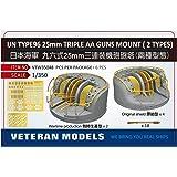 ベテランモデル 1/350 日本海軍 爆風避盾付 九六式25mm 三連装機銃セット プラモデル用パーツ VTMW35048