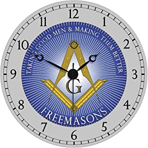 Freemasons Wall Clock: Taking Good Men and Making Them Better Home Decor