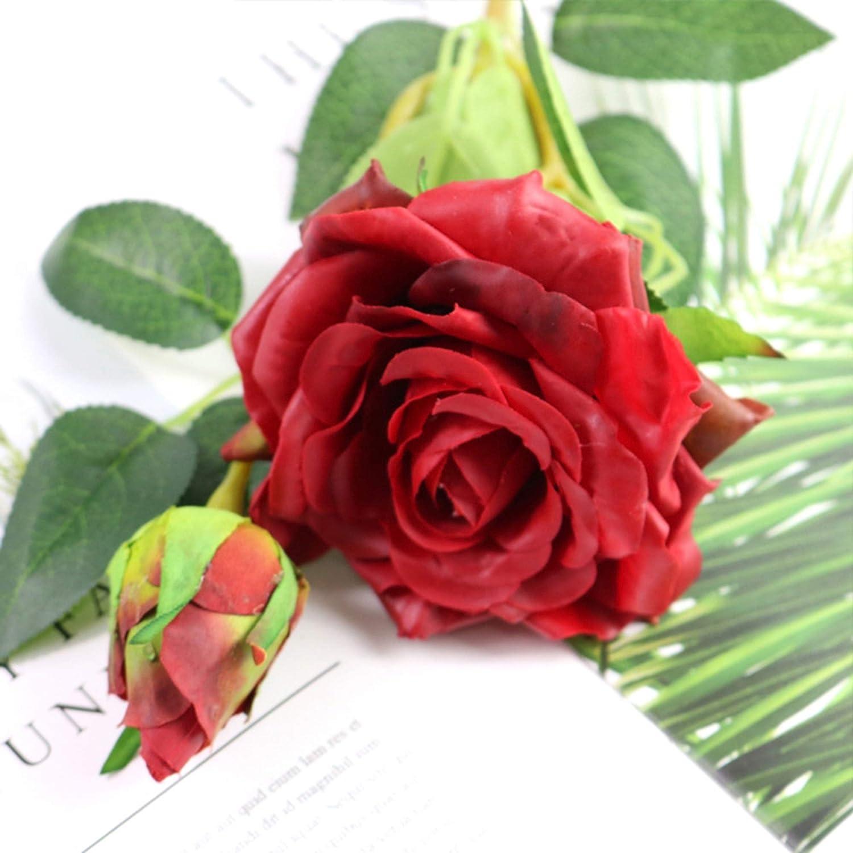 NOMSOCR 造花 フェイクフラワー 5個 フェイクシルクフラワー 花柄テーブルセンターピース アレンジメント ホーム キッチン オフィス 窓 吊り下げ スプリングデコレーション 60.0 cmx15.0 cmx15.0 cm レッド B07HD7DWXD レッド