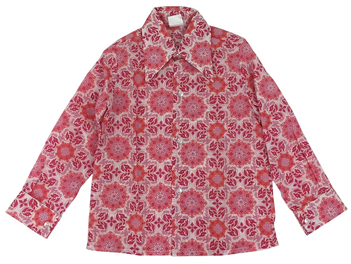 Cuckoo Girls Vintage Kaleidoscope Retro Print Long Sleeve Shirt Blouse Size 8 to 10 Years