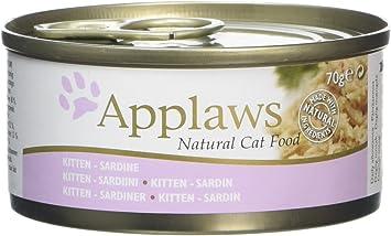 Applaws Natural Kitten Wet Food Sardines With Rice 24 X 70 G Tins Amazon Co Uk Pet Supplies