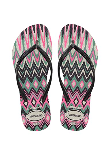 315a01b71 Havaianas Women s s Slim Tribal Flip Flops  Amazon.co.uk  Shoes   Bags