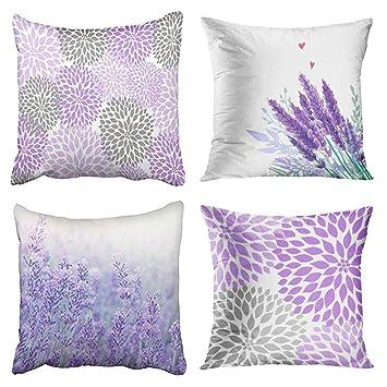 18/'/'New Lavender Pillow Case Short Plush Car Bed Home Decor Waist Cushion Cover