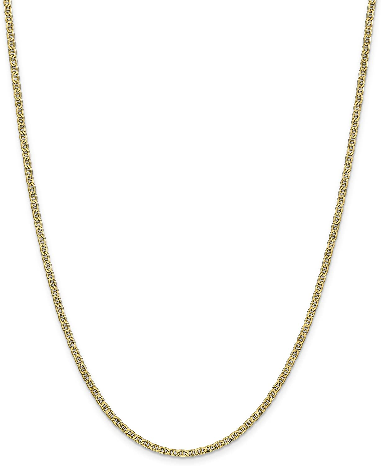 Brilliant Bijou 14k Yellow Gold Yellow Gold Anchor Chain Necklace