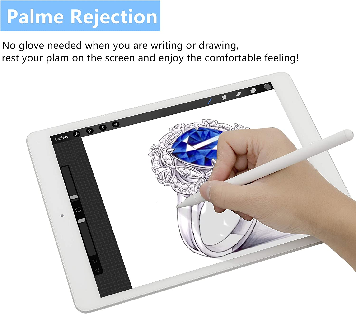 Stylus Pen Compatible with iPad Palm Rejection Active Rechargeable Digital Pencil with Fine Point Magnetic Design Compatible for iPad 6th 7th Gen iPad Pro iPad Air 3rd Gen iPad Mini 5th Gen Black