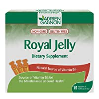Adrien Gagnon - Royal Jelly, 10 ml, Source of Vitamin B6, Maintenance of Good Health, 15 Ampoules
