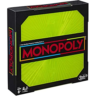 Monopoly Neon Pop Board Game for Kids Ages 8 & Up for 2-6 Players: Toys & Games