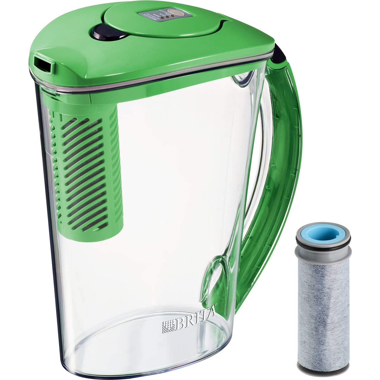 Brita Pitchers 36322 Stream Filter-As-You-Pour Rapids Water Pitcher, 10 cup, Island Green