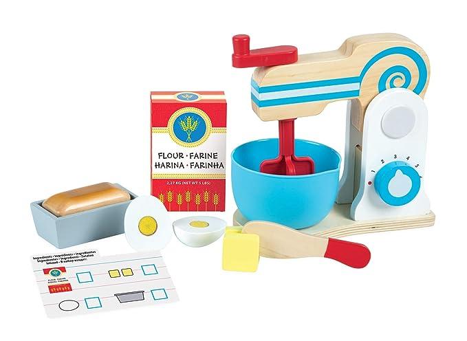 Melissa & Doug- Wooden Make-a-Cake Mixer Set, (19840)