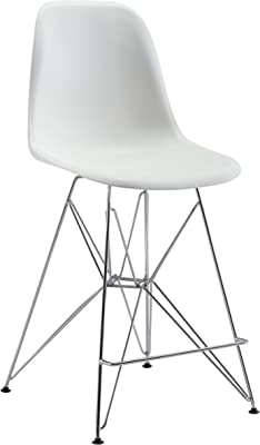ZABRZE MODERN WHITE COMMERCIAL GRADE COUNTER CHAIR