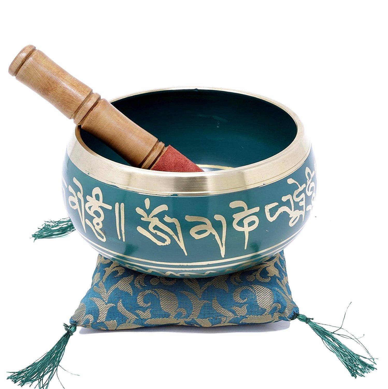 Tibetano Mantra - Cuenco tibetano con mazo y cojín - Santa ...