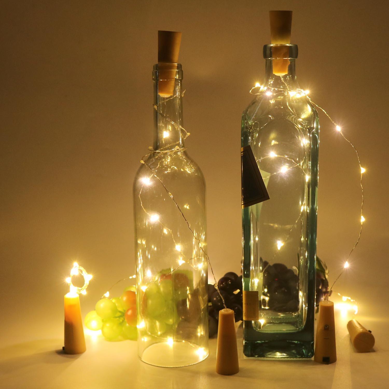 Amazoncom Horeset 6pcs Wine Bottle Wire Lights