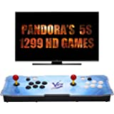 GroGou [1299 HD Arcade Games] Arcade Video Game Console 1299 Retro Games Pandora's Box 5s Plus Arcade Machine Double Arcade Joystick Built-in Speaker