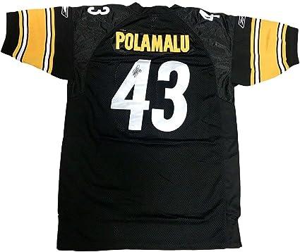 Troy Polamalu Pittsburgh Steelers (Home Black) Signed Jersey JSA ...
