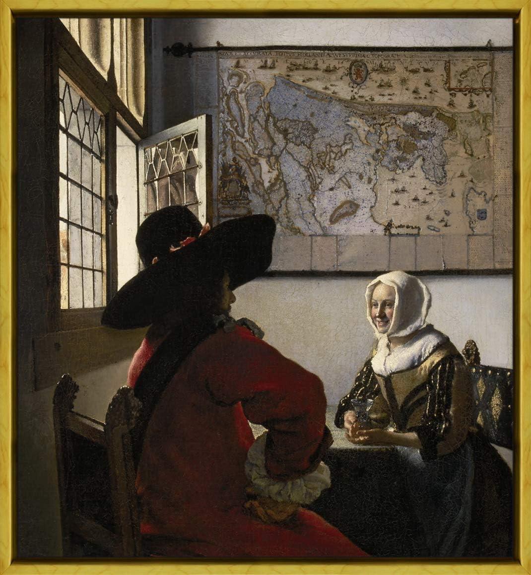 All/égorie de la Foi catholique Berkin Arts Encadr/é Johannes Vermeer Gicl/ée Toile Imprimer Peinture D/écoration Reproduction Affiche Print