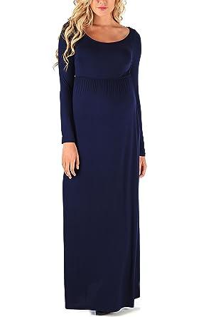 Blue Maternity Maxi Dresses