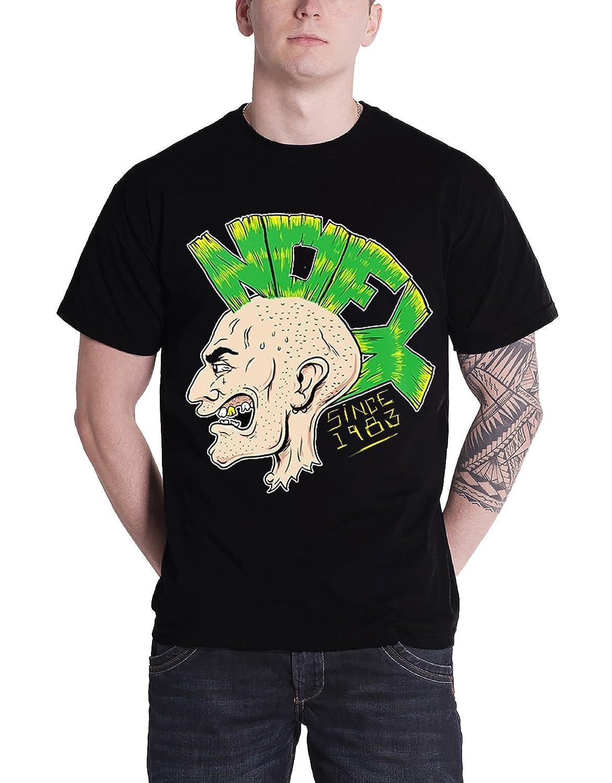NOFX T Shirt Punk Rocker Head Mohawk Logo Since 1983 Official Mens New Black